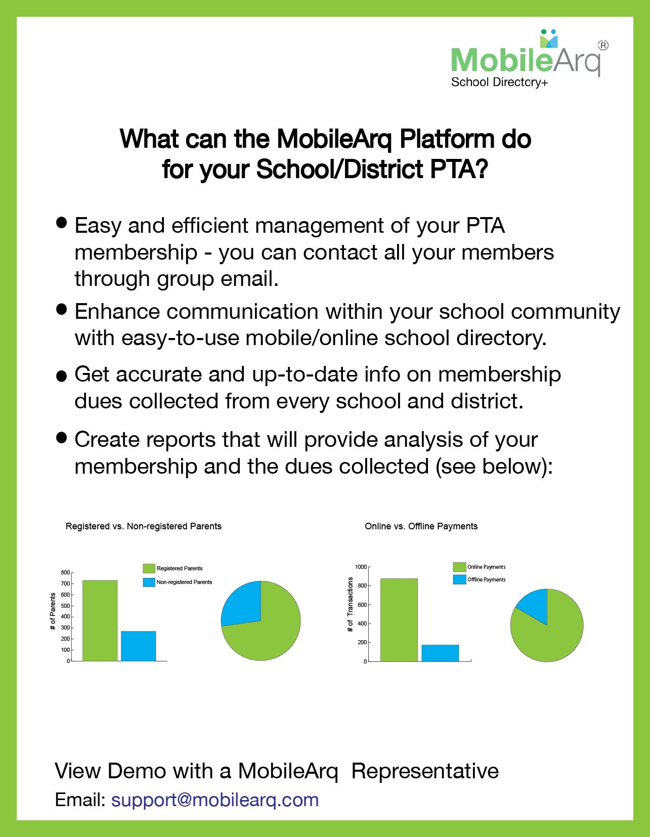 School & District PTA Benefits