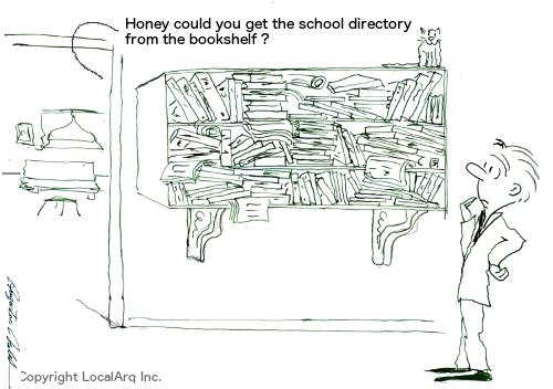 School directory is always lost!