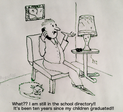 Printed school directories are not easily updated