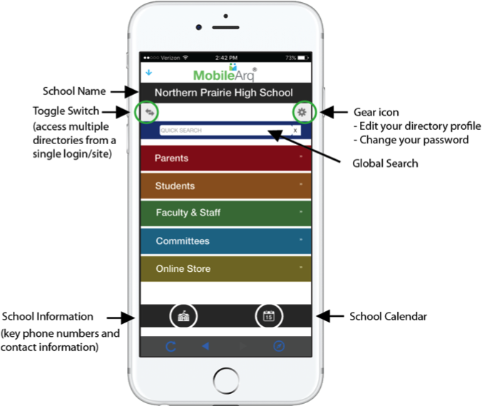 School directory app the anatomy of an intuitive and easy for Designer directory